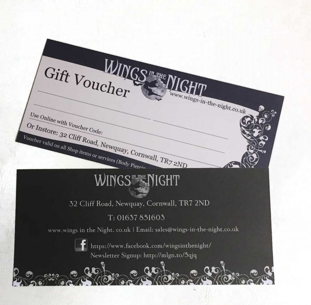 Wings in the Night Gift Voucher / Certificate